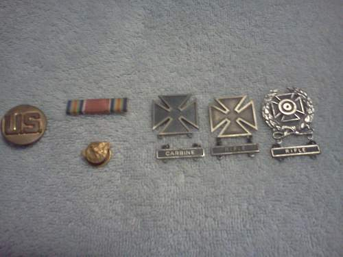 Step Grandfathers Marksmen medals etc
