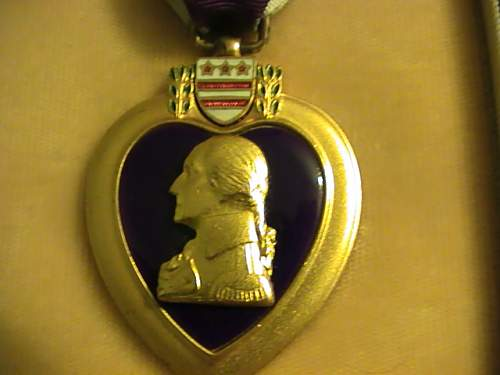 Two US Purple hearts
