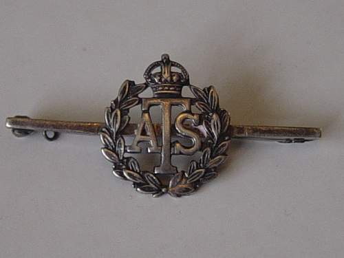 Territorial Efficiency Medal. Named to a member of the ATS