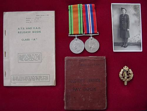 ATS Medals and documents group