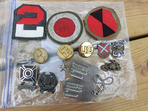 Pin and patches lot from Ebay