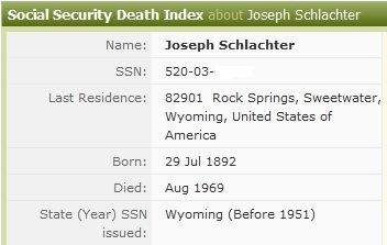 WWI Purple Heart - Named to Joseph Schlachter