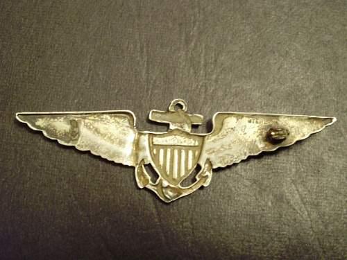 ww1 us navy flyers wings?
