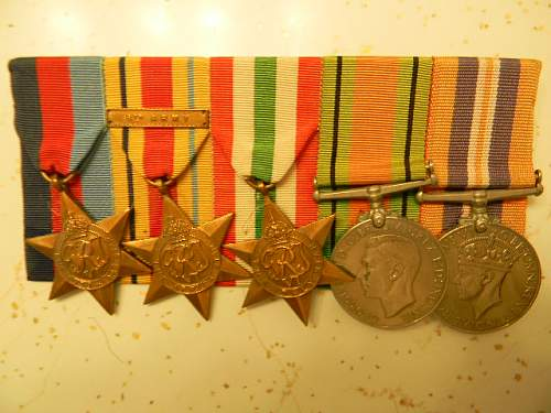 Named Coldstream Guards WWII Medal Group
