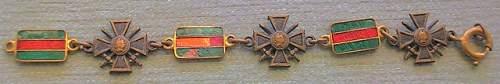 Croix de Guerre bracelet