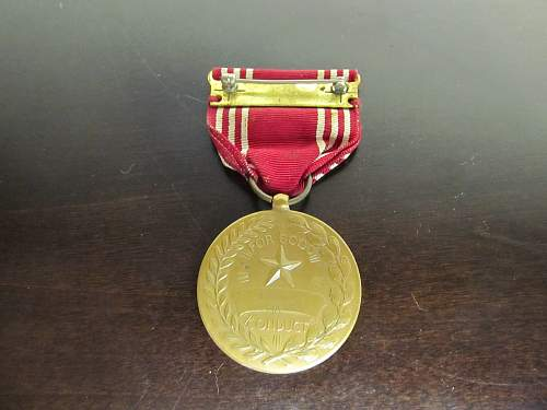 Bronze Star, Distinguished Service Cross, and Good Conduct Medal- Eras?