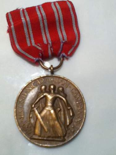 2nd Nicaraguan Campaign Medal numbered