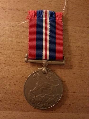 Named 1939-1945 Medal