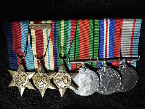 Medals Recieved 67 Yrs later.