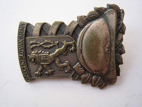 WW2 exile Czechoslovak Artillery badge