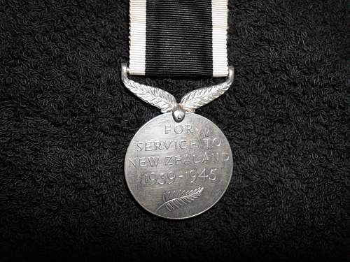 The New Zealand War Service Medal