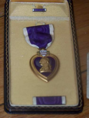 Purple heart and other items from Normandy