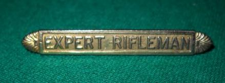 Expert Rifleman's badge