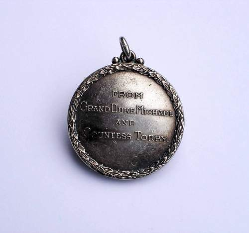 Grand Duke Michael and Countess Torby: Keele Hall Medal, 1901-10 -Opinions Please