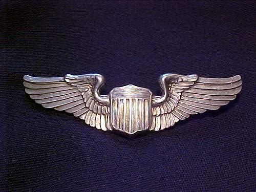 My WW2 AAF Pilot wings