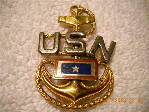 Navy son in service medal