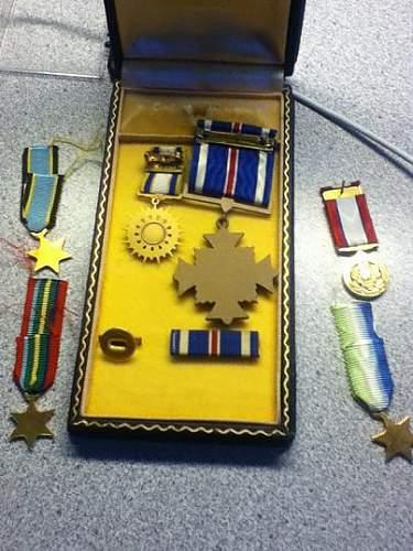 WWII Navy/USMC DFC and mini's