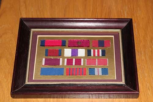 framed ribbons.