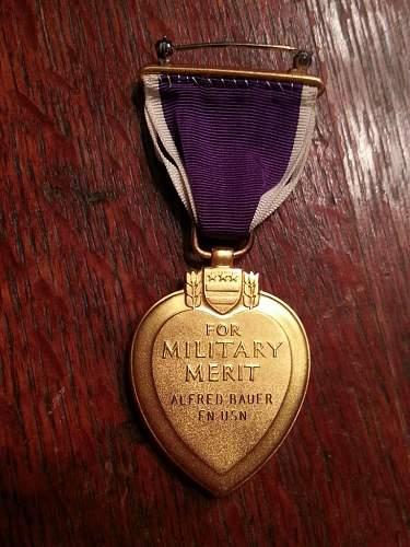 Navy Vietnam KIA Purple Heart - KIA 3 days before going home
