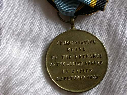 Opinions on 5th army Naples medal.