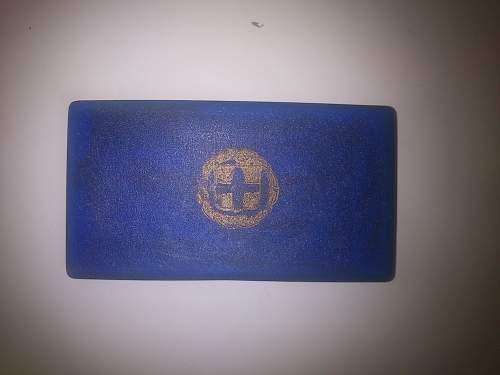 Greek National Resistance Medal with original case (Second Copy)