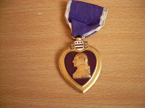 Click image for larger version.  Name:Purple Heart medal and pistol 001.jpg Views:274 Size:62.9 KB ID:520229