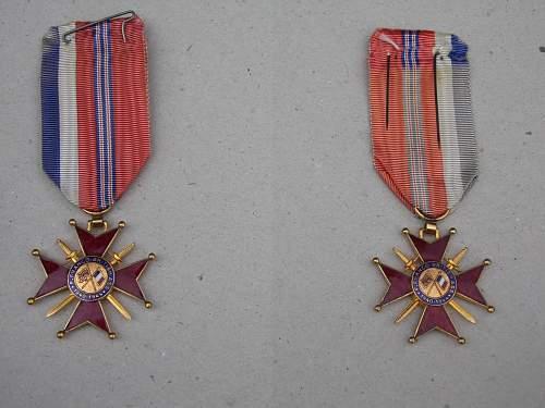 1940-44 Franco-British Association Merit Medal.