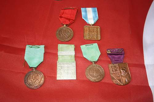 spanish medal and portuguese youth medals and other portuguese awards