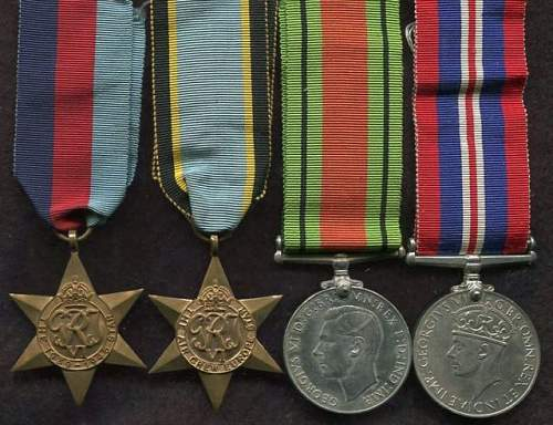 Medal group with Air Crew Europe Star
