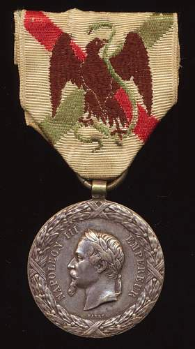 French Mexican capaign medal 1862/3