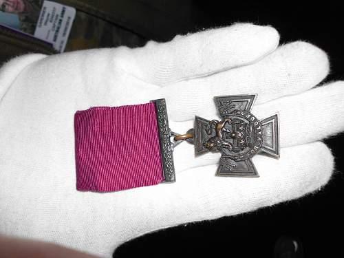 Victoria Cross-seen today'in the flesh'.