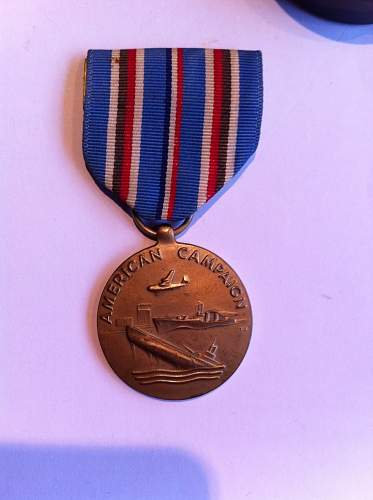 US american campaign and good conduct medal, are they fake?? help please