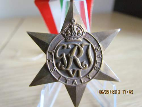 Click image for larger version.  Name:Italy Star WW2.jpg Views:64 Size:308.2 KB ID:565200