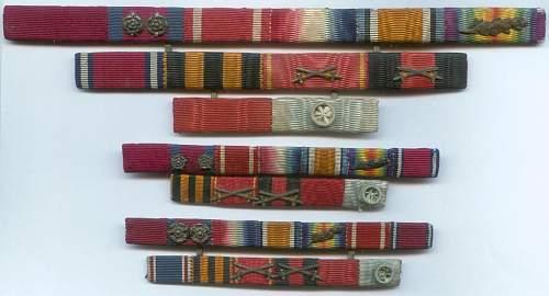 Ribbon bars of Admiral