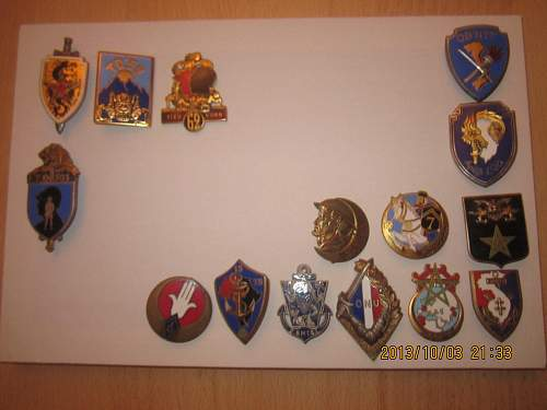 French Indochine insignes collection