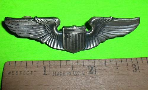 US ARMY AIR FORCE PILOT WINGS- are these sterling?
