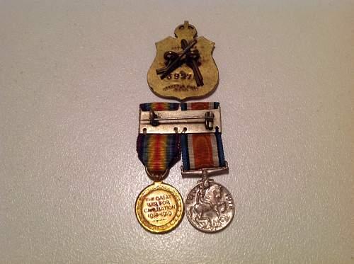 WW1 miniatures.