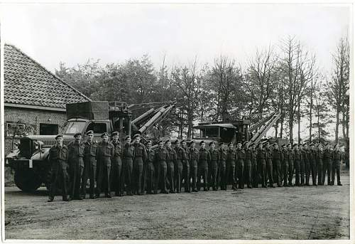 Click image for larger version.  Name:Rick Wilkin's Dad's 53rd LAD unit in Holland 1945 - John is first on left....jpg Views:46 Size:112.6 KB ID:631575