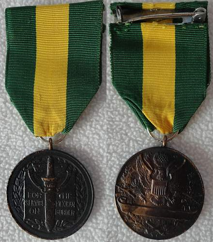 Restoration - Mexican Border Service Medal