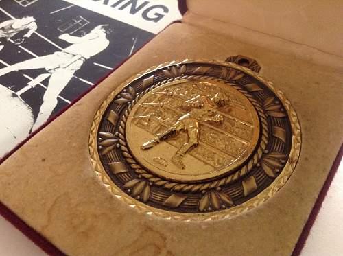 Royal Marines Commando training centre boxing medals