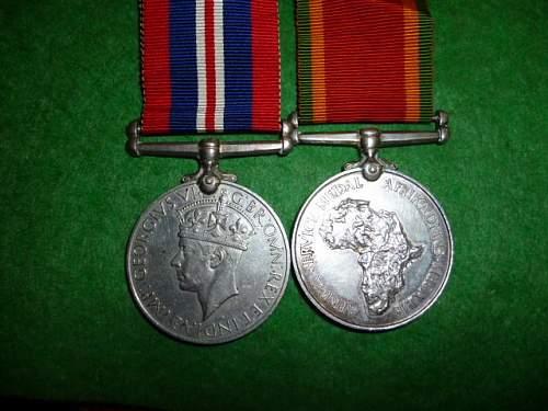 1939-1945 war medal/african service medal