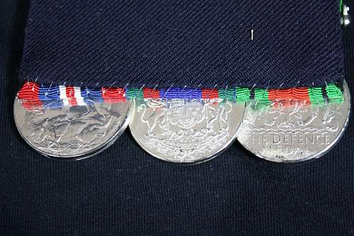 Australian, Canadian and South African service medals