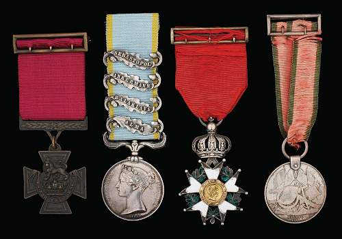 "1854-56 Crimean ""Victoria Cross"" Medal Group"