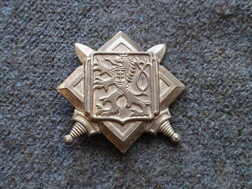 Click image for larger version.  Name:T29-No10 Commando Free Czechoslovakian Toop cap badge_.jpg Views:653 Size:117.2 KB ID:691721