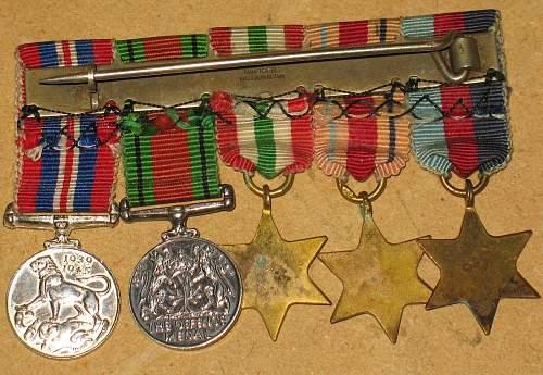 ww2 canada medal miniatures