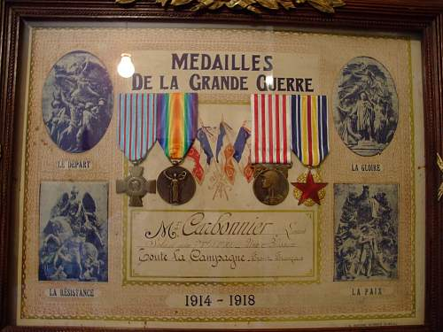 WW1 French medal set