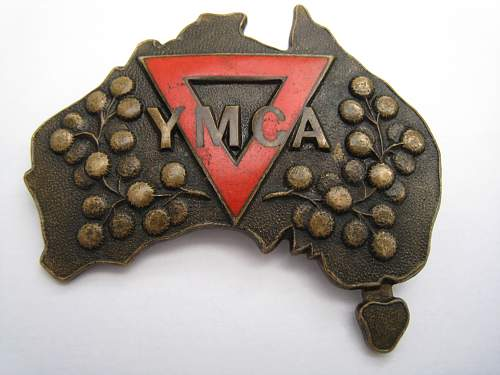 Australian YMCA - WW2 - ID needed