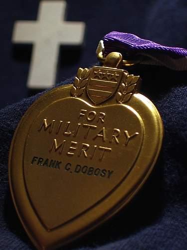 Purple Heart - TEC4 Frank C. Dobosy, US Army, WW II, D.O.W
