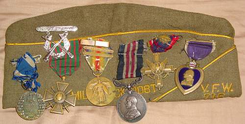 wwi Distinguished Service Cross grouping purple heart numbered