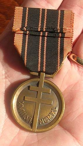 French Resistance medal